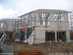 پاورپوینت ساختمان پیش ساخته دو طبقه L.S.F و انواع روش های سازه نگهبان